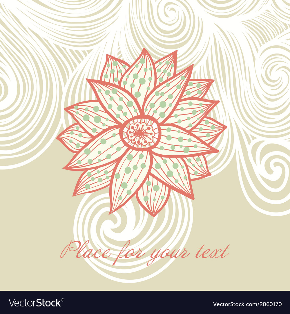 Floral background with place for your text vector | Price: 1 Credit (USD $1)