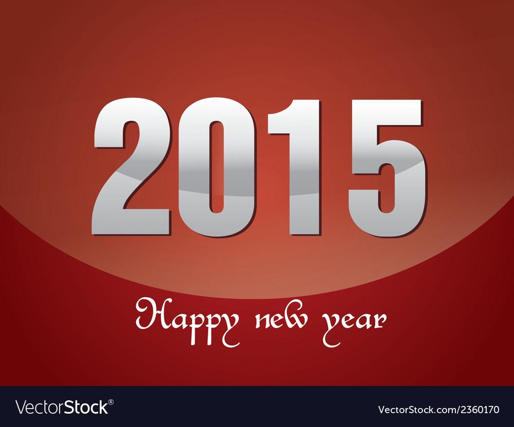 Happy new year 2015 vector | Price: 1 Credit (USD $1)