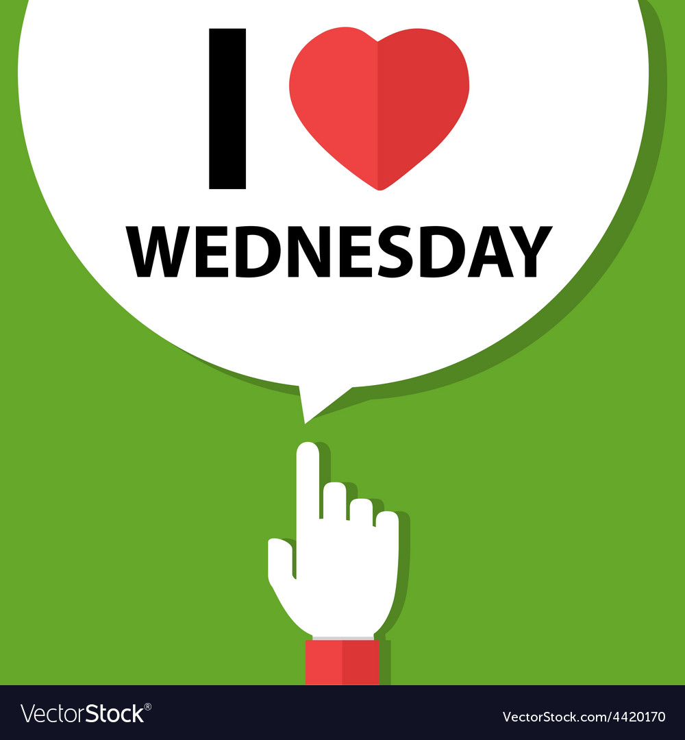 I love wednesday forefinger with bubble vector | Price: 1 Credit (USD $1)