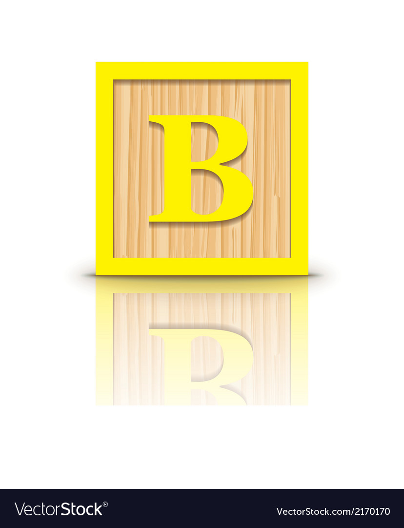 Letter b wooden alphabet block vector | Price: 1 Credit (USD $1)