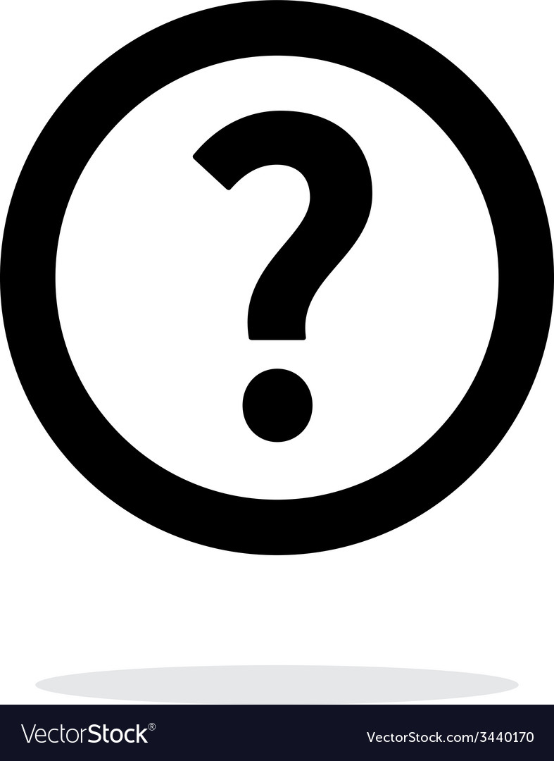 Question icon on white background vector | Price: 1 Credit (USD $1)