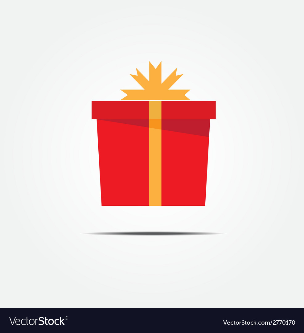 Red gift box vector | Price: 1 Credit (USD $1)