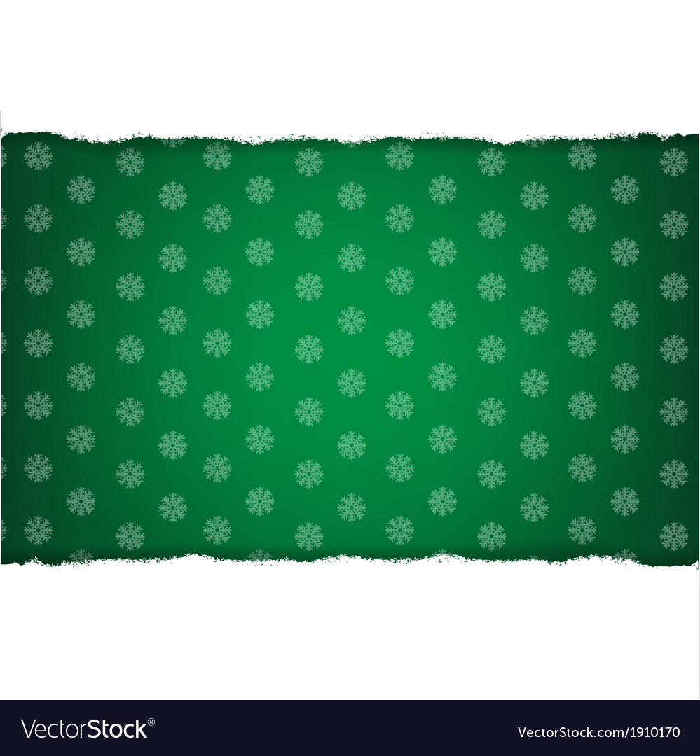 Rip white paper and dark green christmas vector | Price: 1 Credit (USD $1)