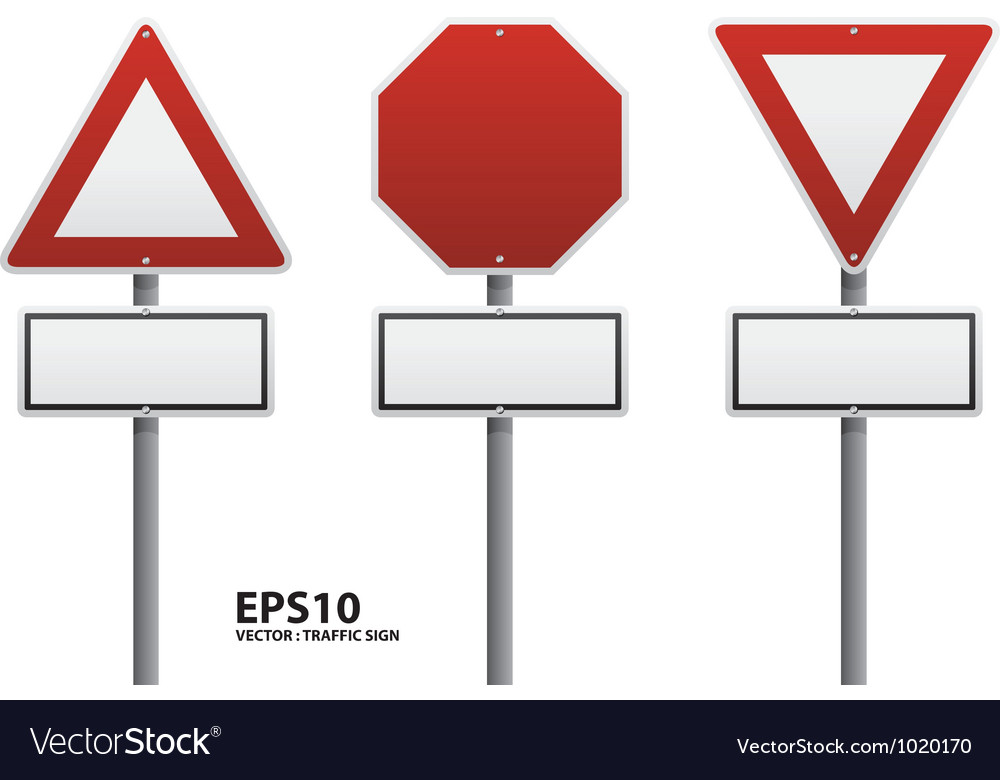 Traffic sign red color vector | Price: 1 Credit (USD $1)