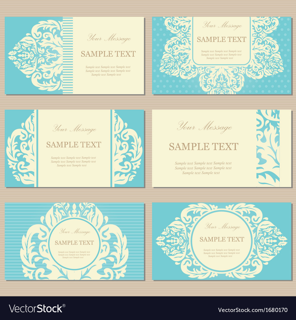 Vintage cards blue vector | Price: 1 Credit (USD $1)