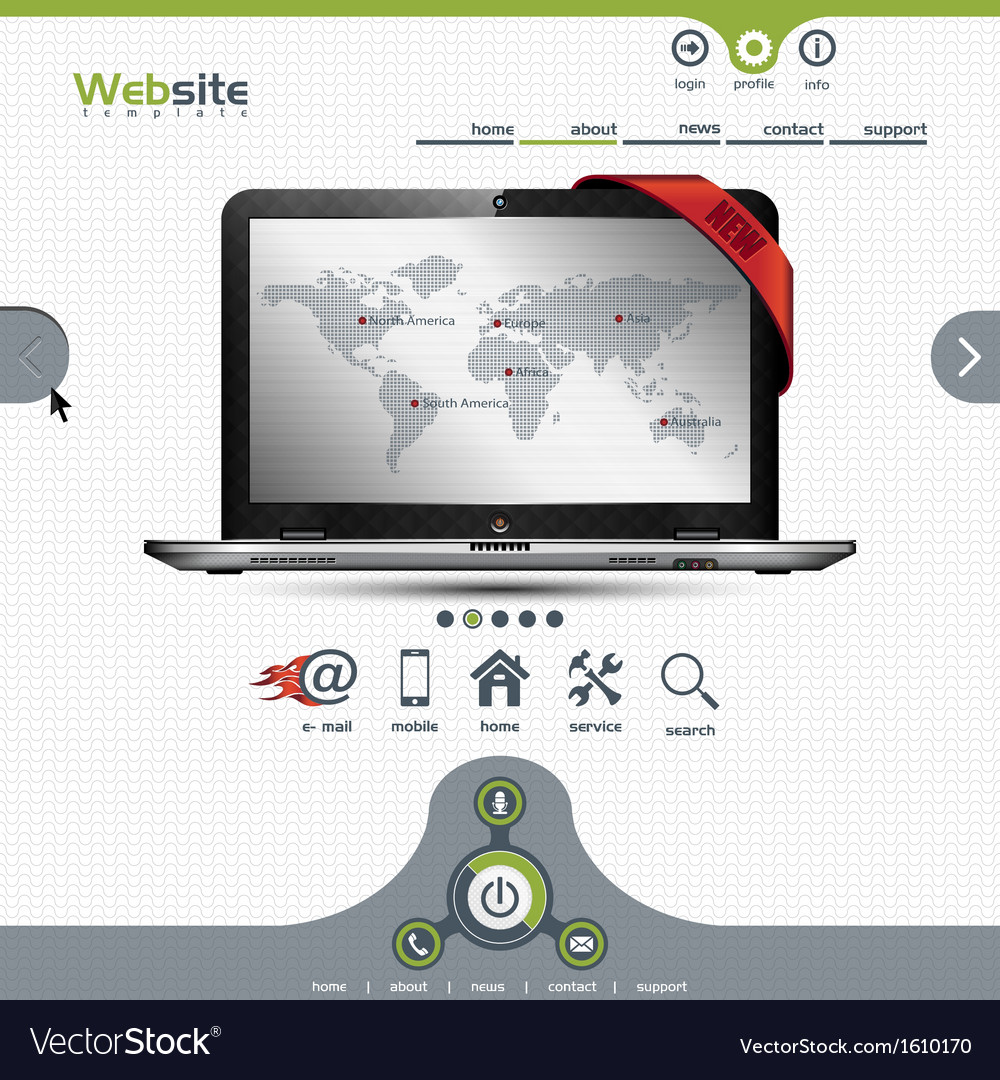 Website template for business presentation vector | Price: 1 Credit (USD $1)