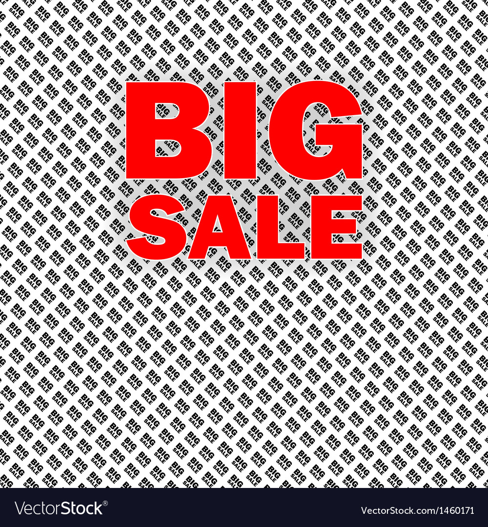 Big sale isolated over white background vector | Price: 1 Credit (USD $1)
