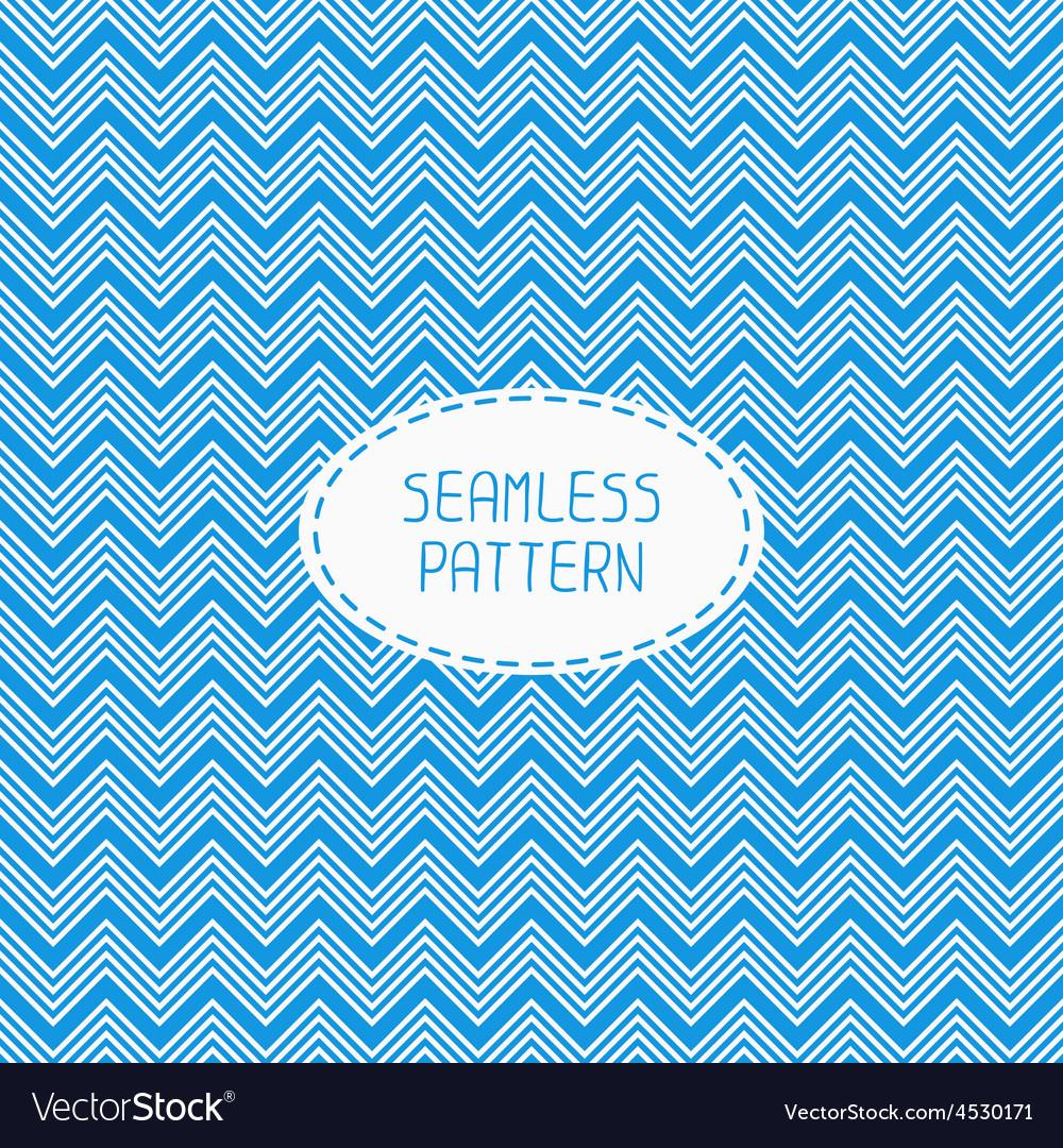 Blue geometric seamless pattern with chevron vector | Price: 1 Credit (USD $1)