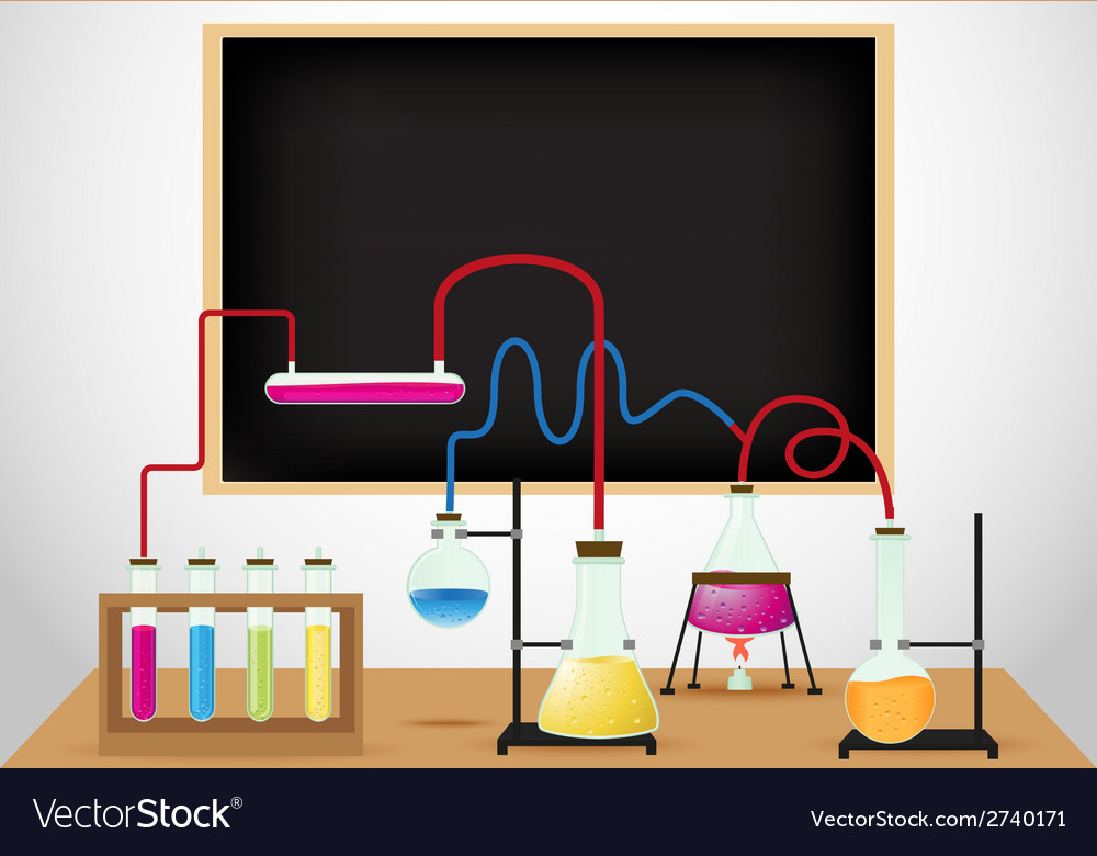 Chemical laboratory background vector | Price: 1 Credit (USD $1)