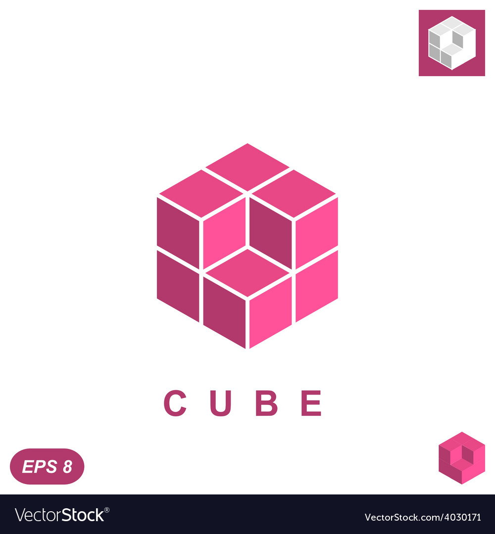 Cube isometric logo concept vector | Price: 1 Credit (USD $1)