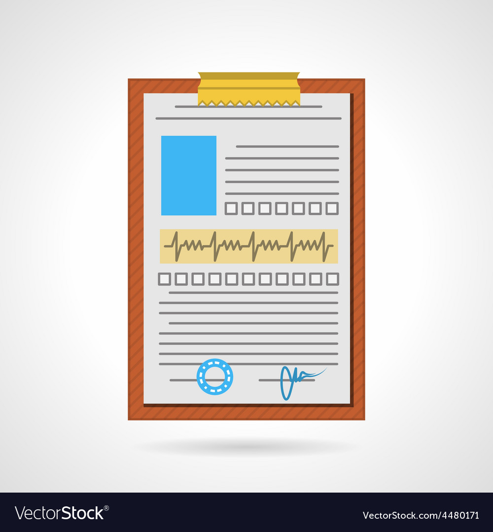 Flat icon for medical clipboard vector | Price: 1 Credit (USD $1)