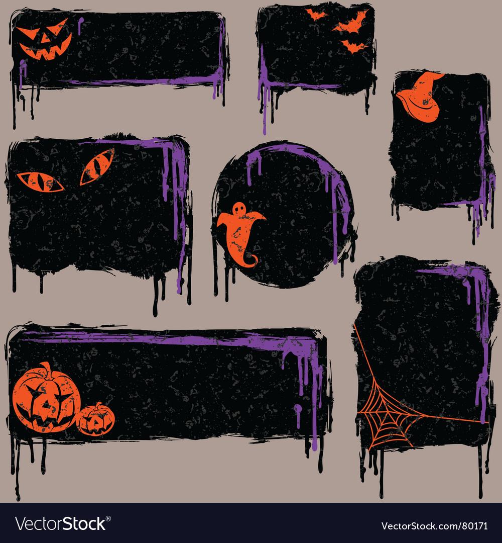 Halloween design elements vector | Price: 1 Credit (USD $1)