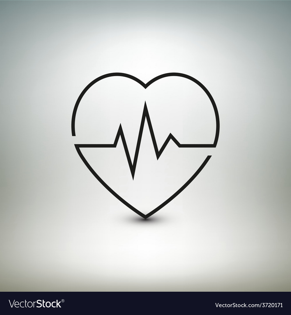 Heart beat icon healthcare and medical vector | Price: 1 Credit (USD $1)