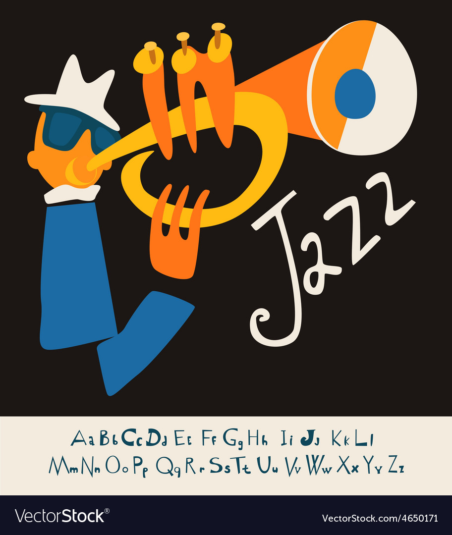 Jazz concert music background flat vector | Price: 1 Credit (USD $1)