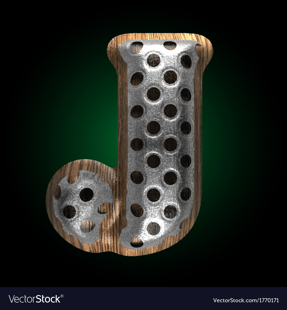 Metal and wood figure j vector | Price: 1 Credit (USD $1)