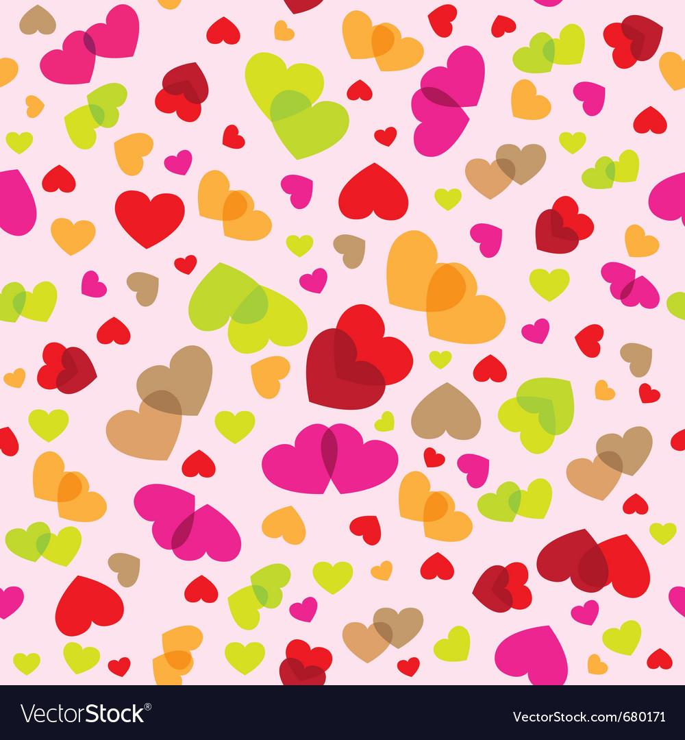 Seamless romantic pattern vector | Price: 1 Credit (USD $1)