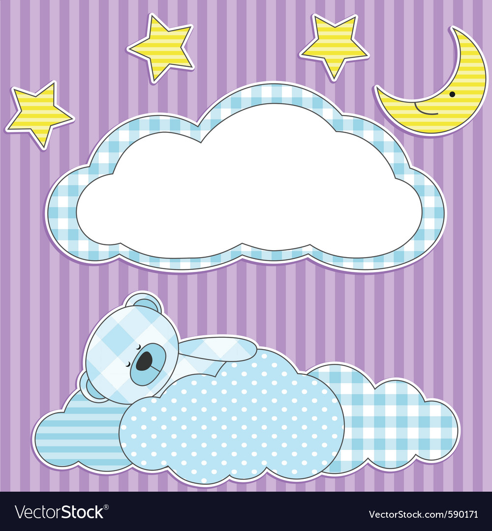 Sleeping pink teddy bear vector | Price: 1 Credit (USD $1)