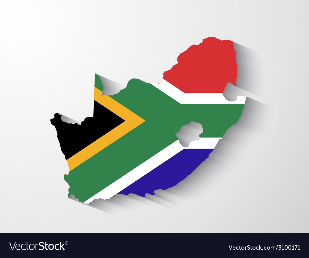 South africa map with shadow effect presentation vector | Price: 1 Credit (USD $1)