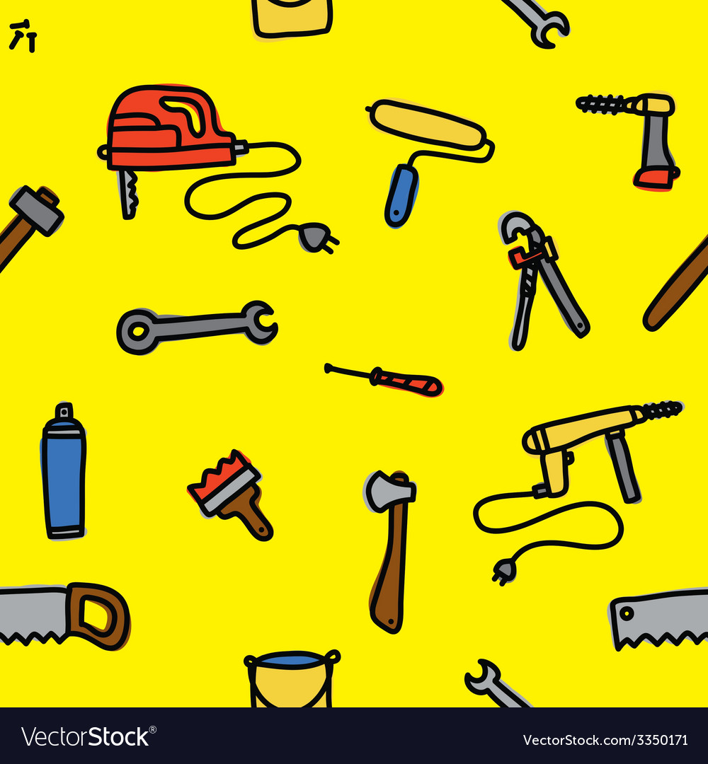 Tools seamless pattern vector | Price: 1 Credit (USD $1)