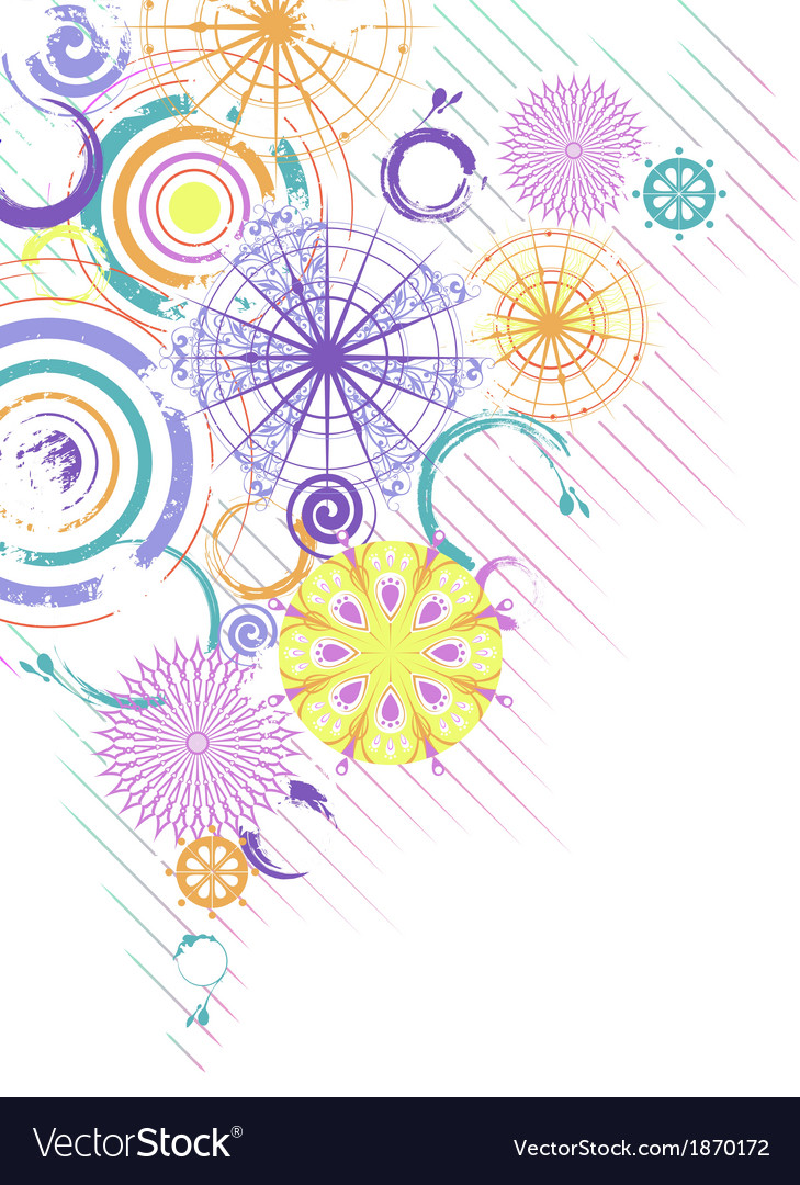Abstract background with multicolor circles vector | Price: 1 Credit (USD $1)