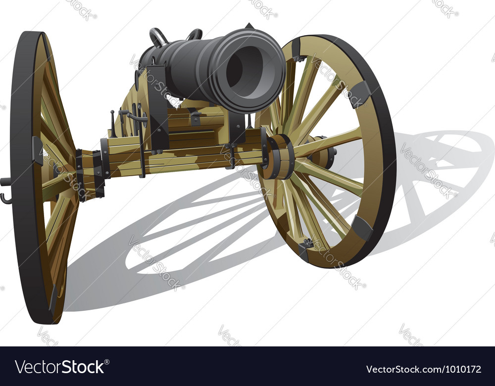 Ancient field gun vector | Price: 3 Credit (USD $3)