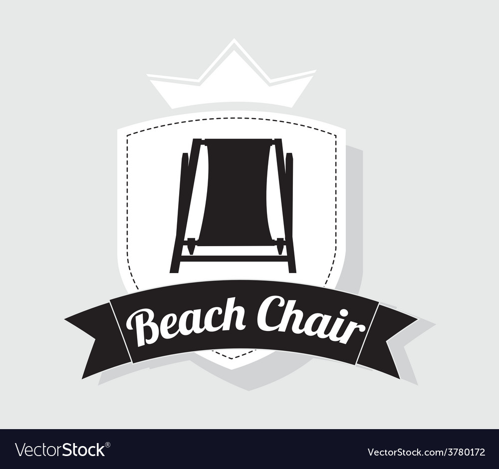 Beach chair design vector | Price: 1 Credit (USD $1)