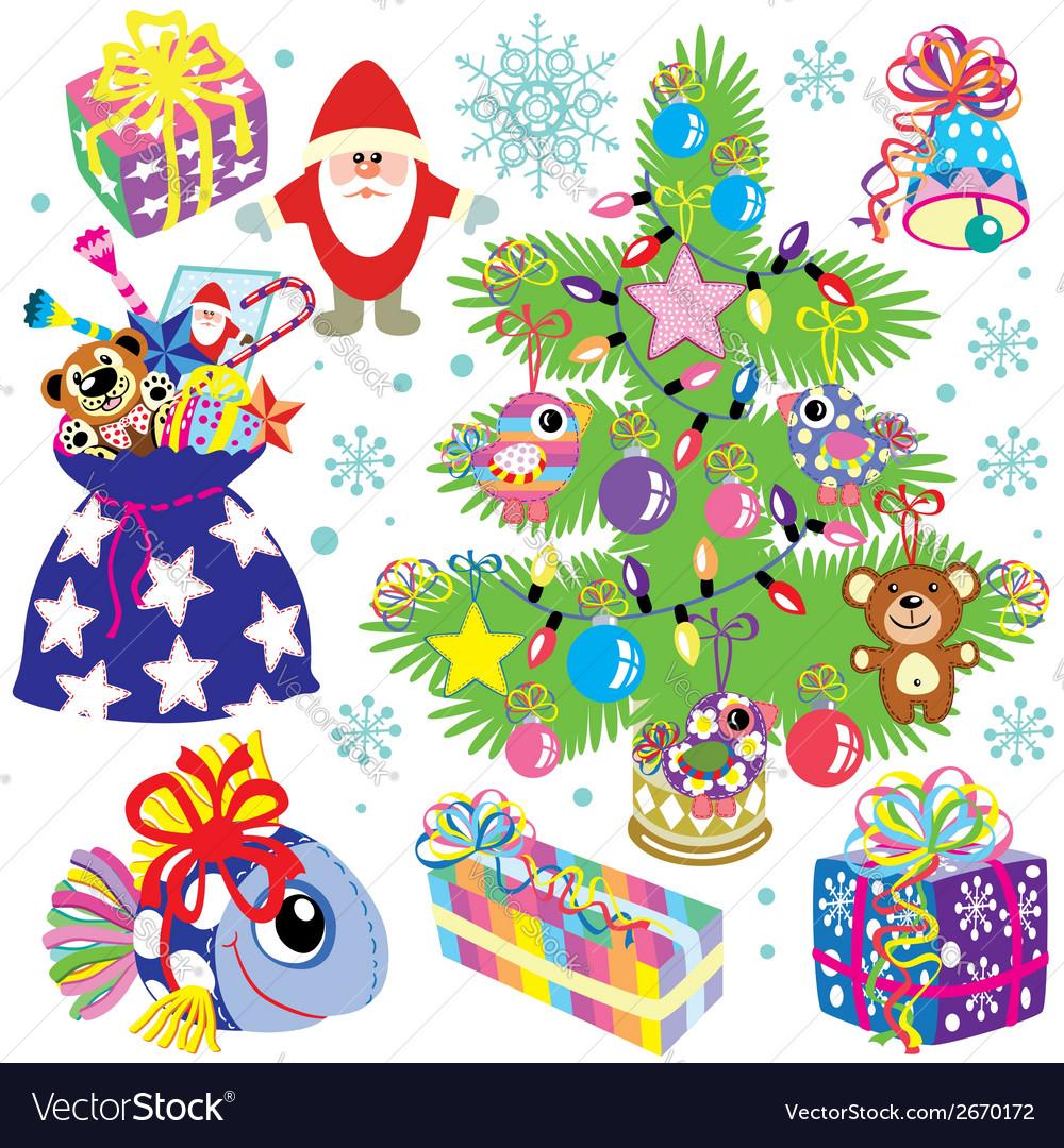 Christmas set for kids vector | Price: 1 Credit (USD $1)