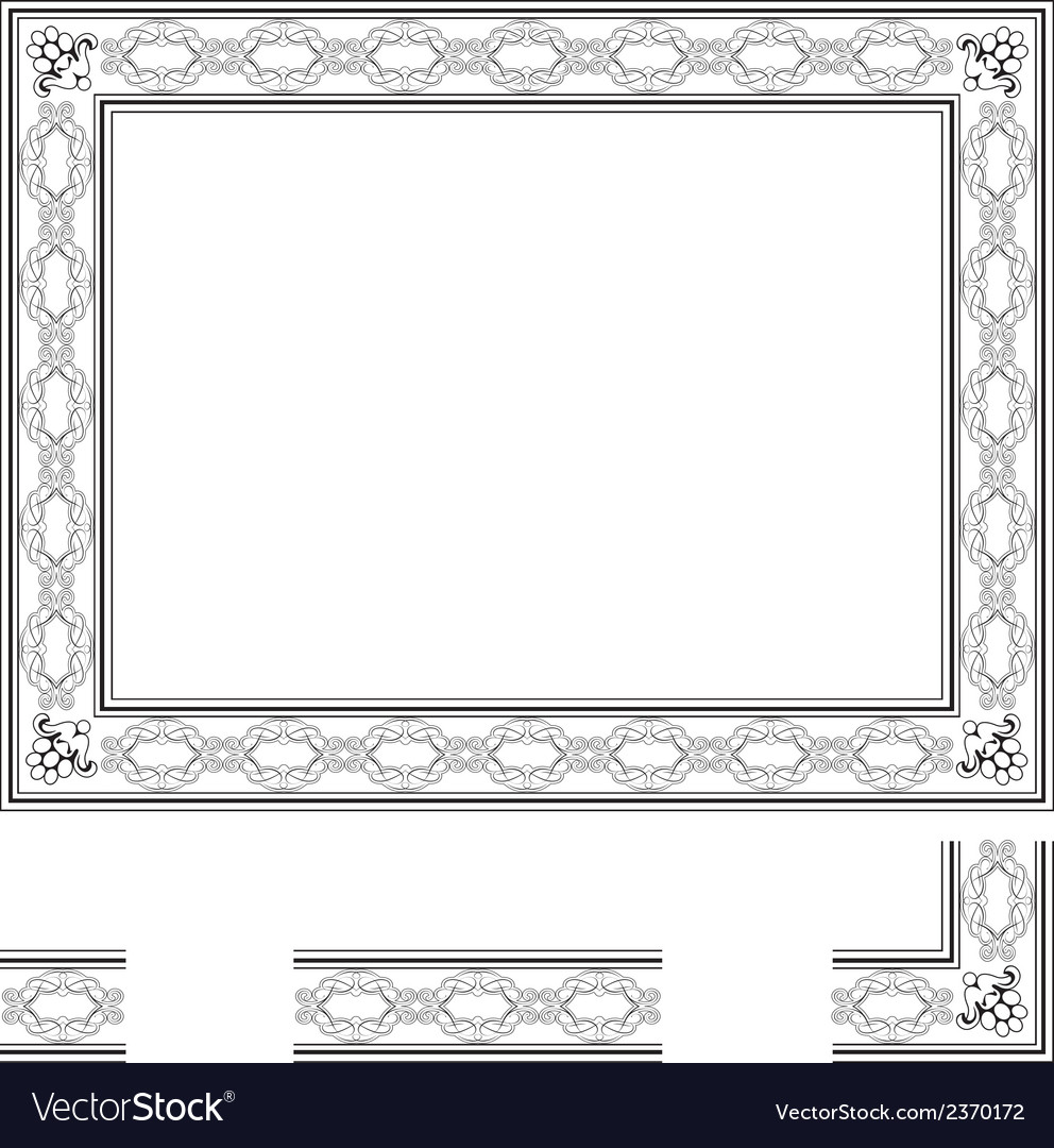 Deco frame vector | Price: 1 Credit (USD $1)
