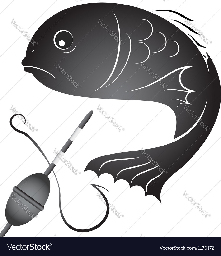 Fish and fishing gear vector | Price: 1 Credit (USD $1)