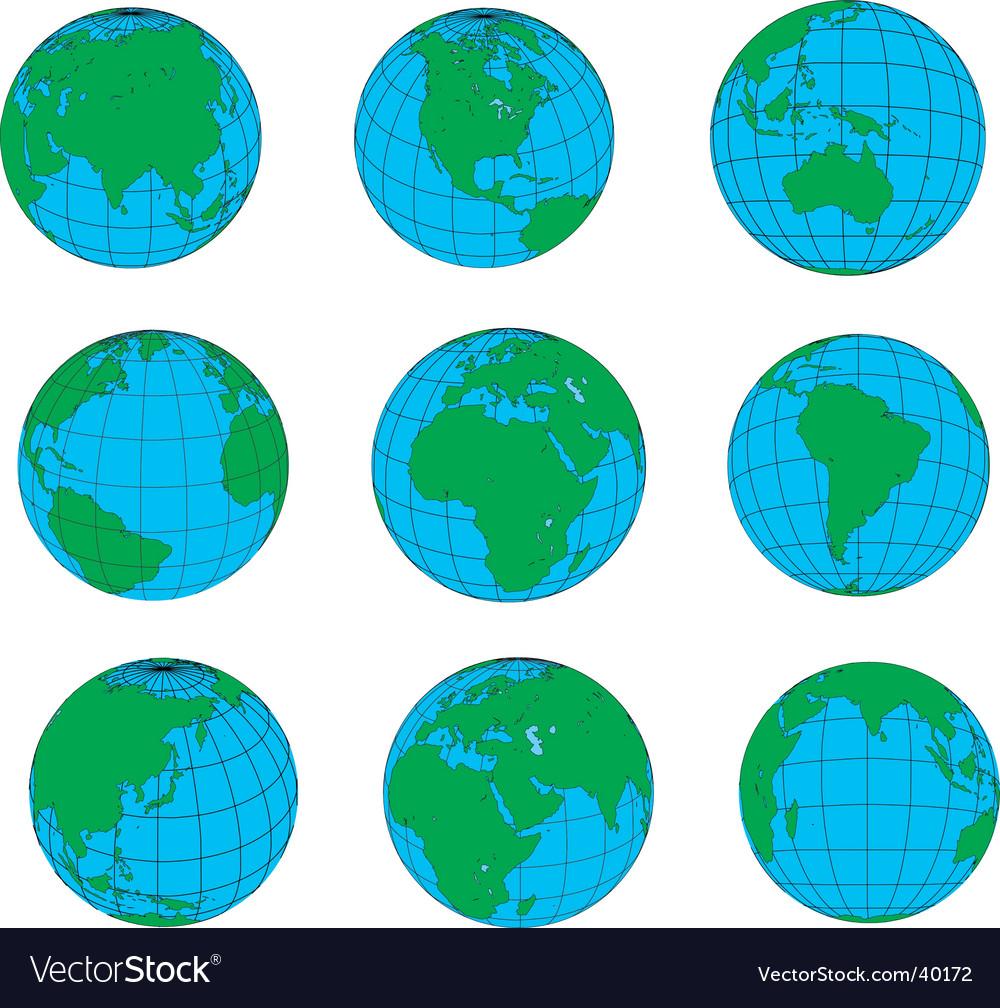 Globes vector   Price: 1 Credit (USD $1)