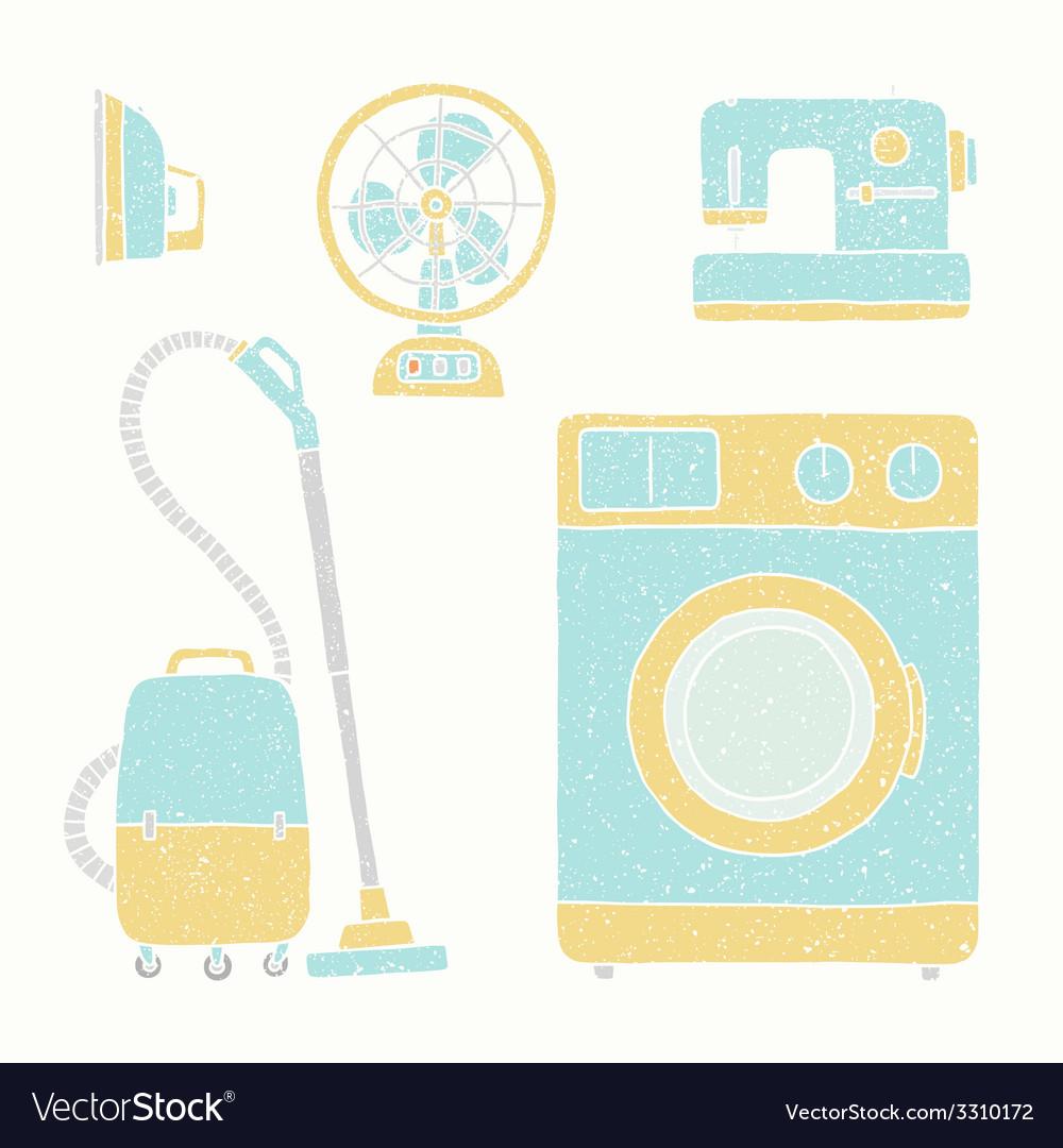 Household appliances set vector | Price: 1 Credit (USD $1)