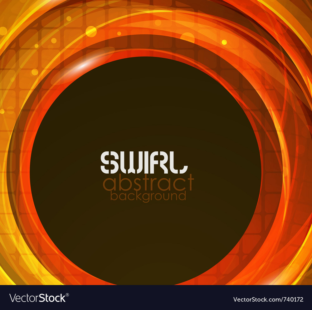 Orange abstract flow background vector | Price: 1 Credit (USD $1)