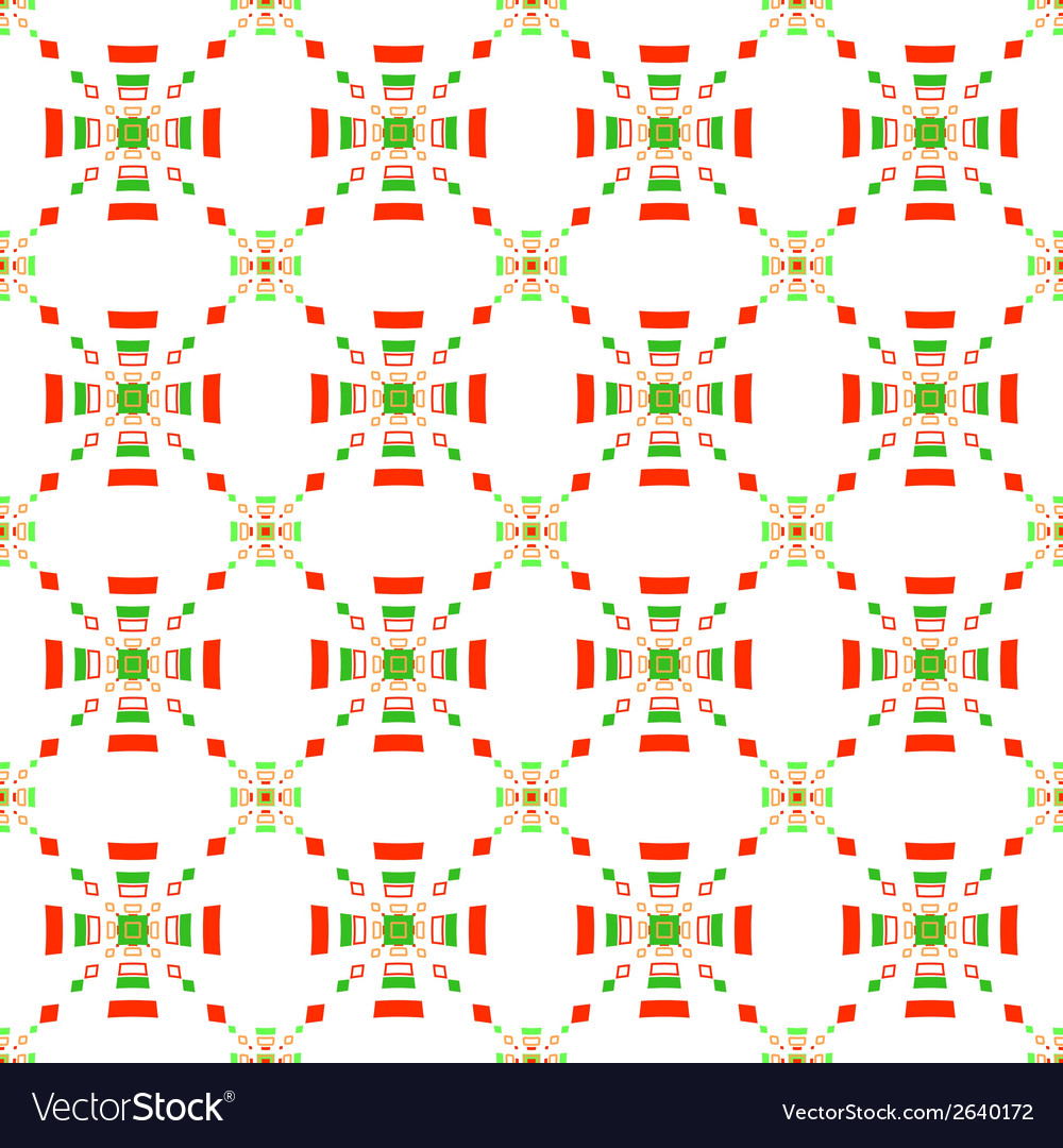 Red and green rectangle gropes flat seamless vector | Price: 1 Credit (USD $1)