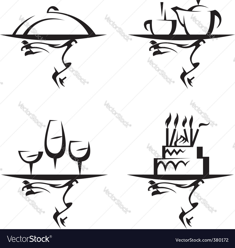 Restaurants icon set vector | Price: 1 Credit (USD $1)