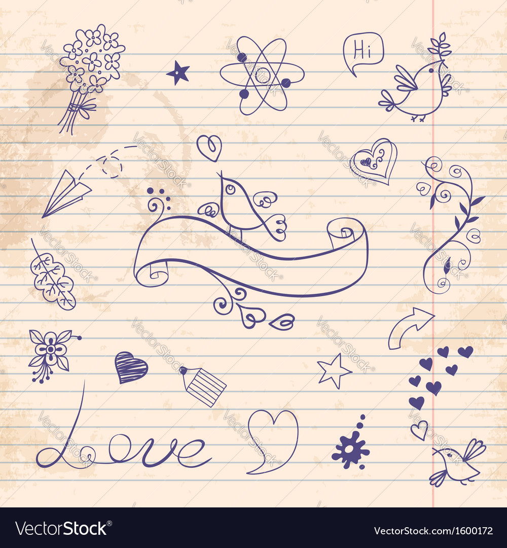 School and love vector | Price: 1 Credit (USD $1)