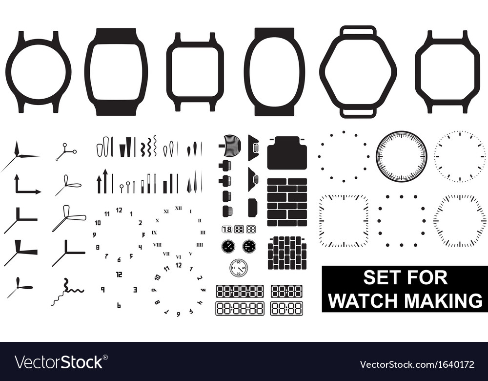 Set for watch making vector | Price: 1 Credit (USD $1)