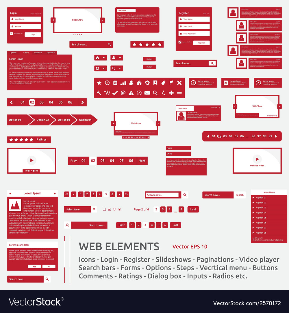 Web elements template vector | Price: 1 Credit (USD $1)