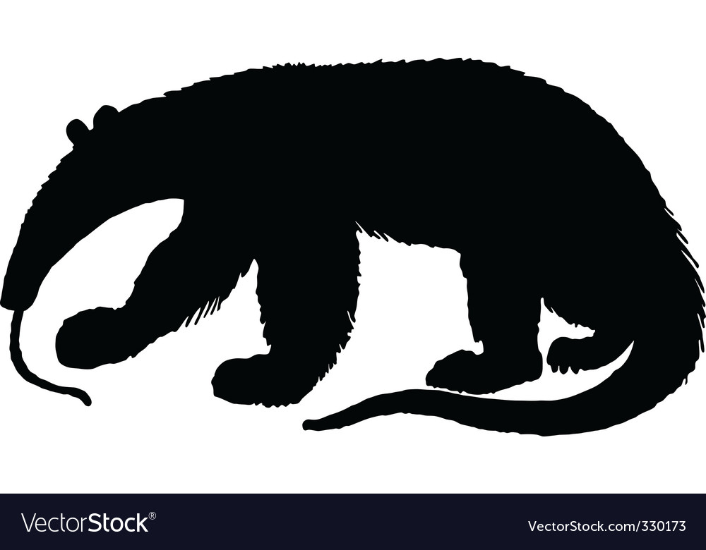 Anteater silhouette vector | Price: 1 Credit (USD $1)