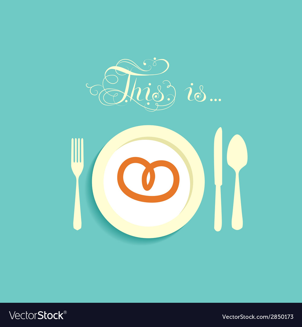 Bagel on a plate vector   Price: 1 Credit (USD $1)