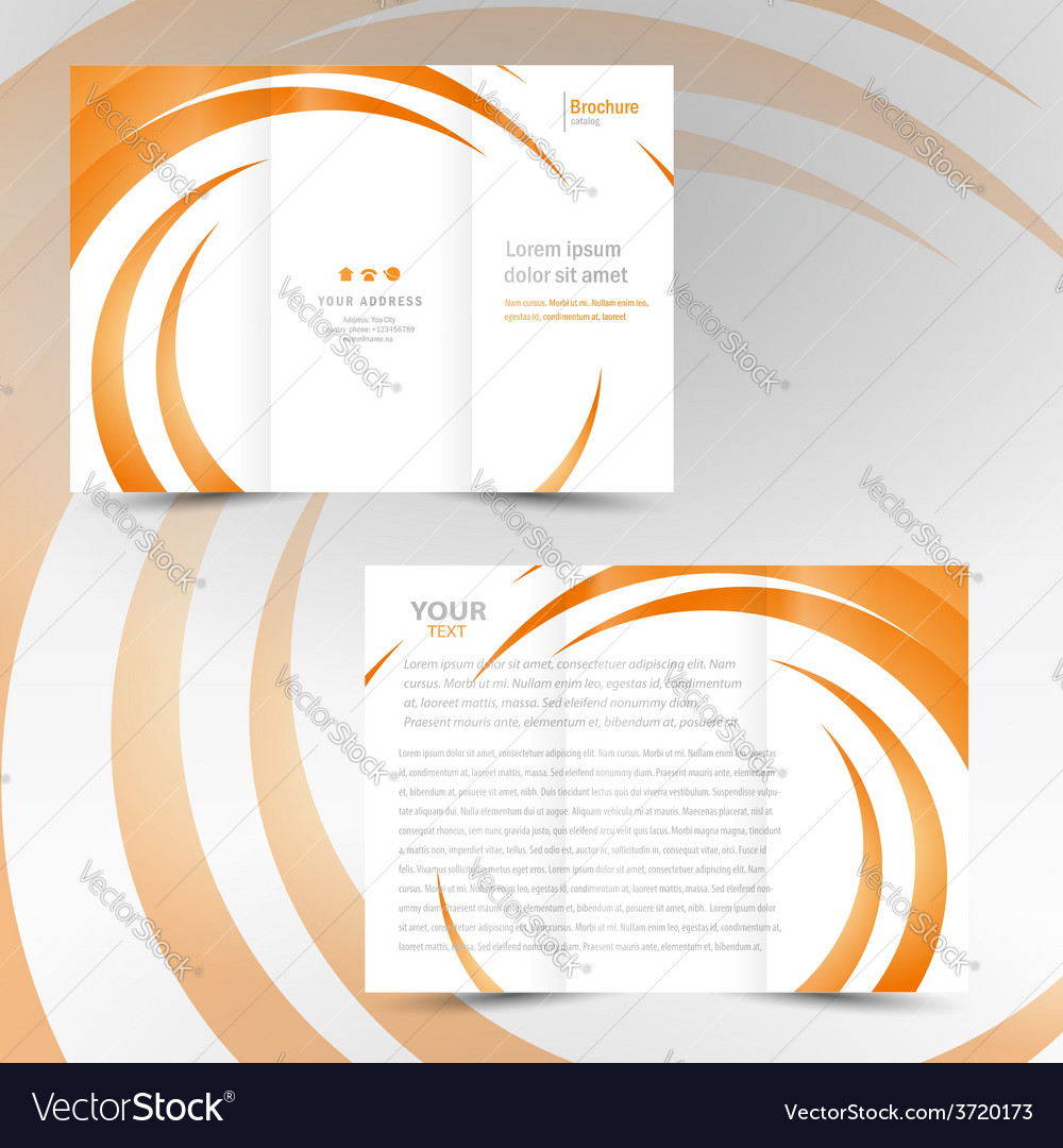Brochure trifold leaflet geometric spiral element vector | Price: 1 Credit (USD $1)