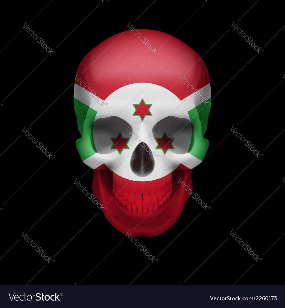 Burundian flag skull vector | Price: 1 Credit (USD $1)