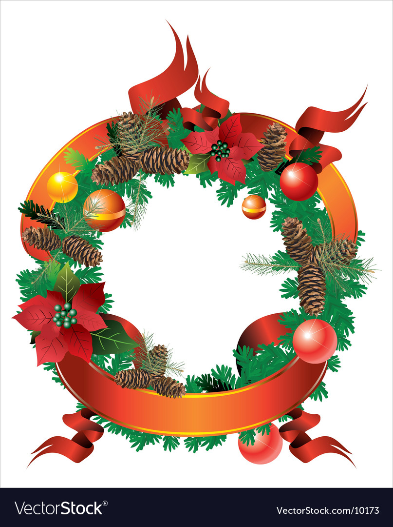 Christmas wreath vector | Price: 3 Credit (USD $3)