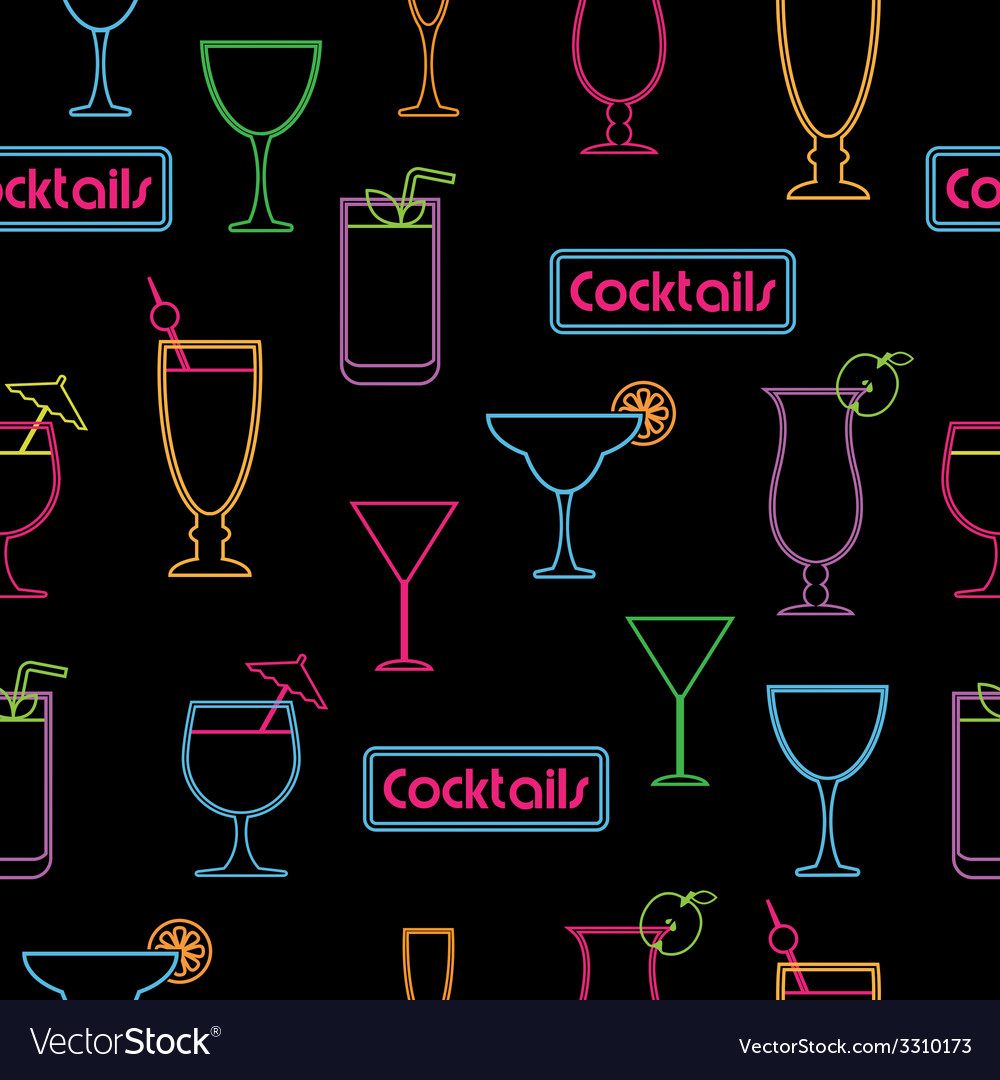 Cocktail pattern vector | Price: 1 Credit (USD $1)