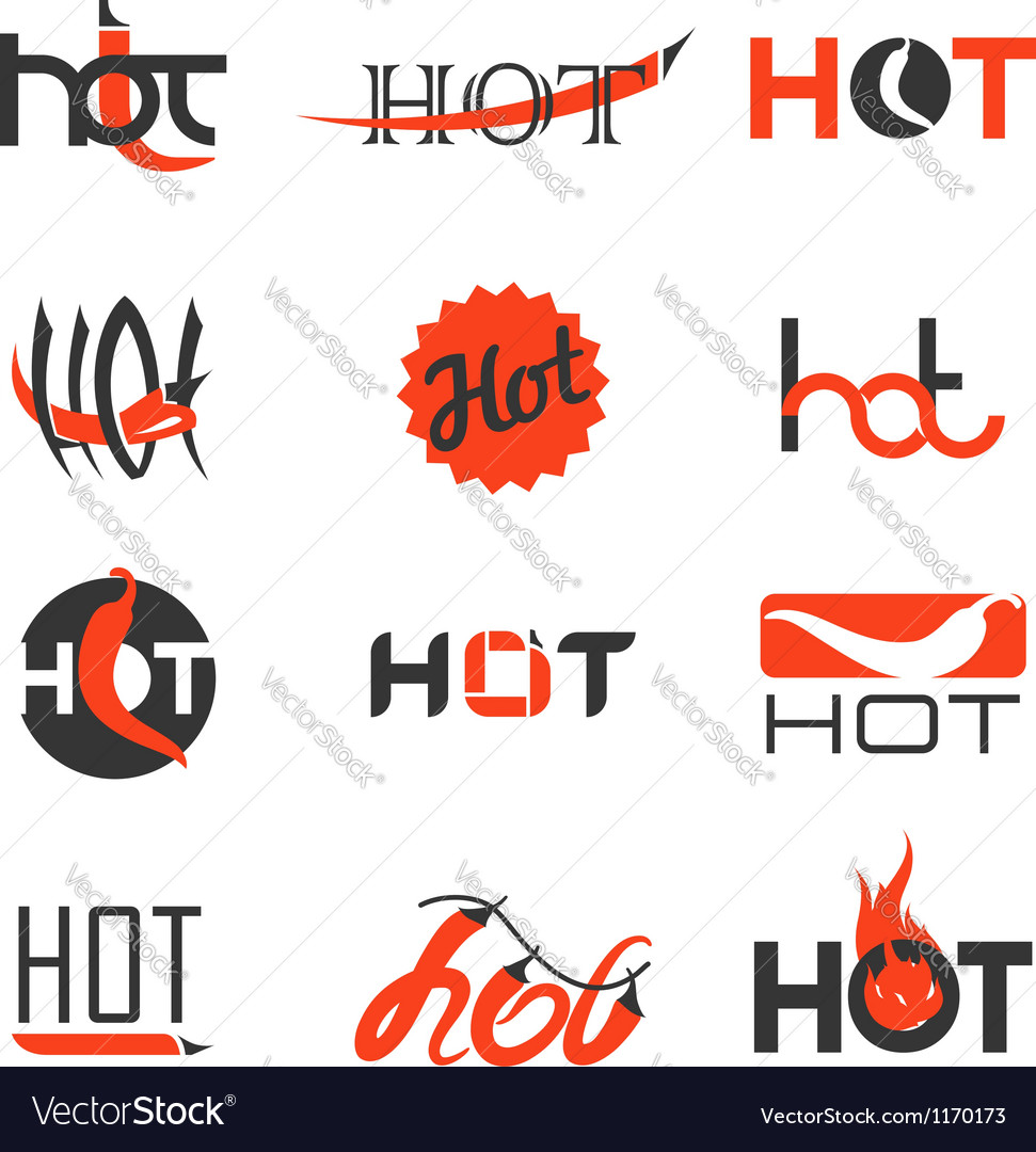 Collection of red hot chili peppers vector | Price: 3 Credit (USD $3)