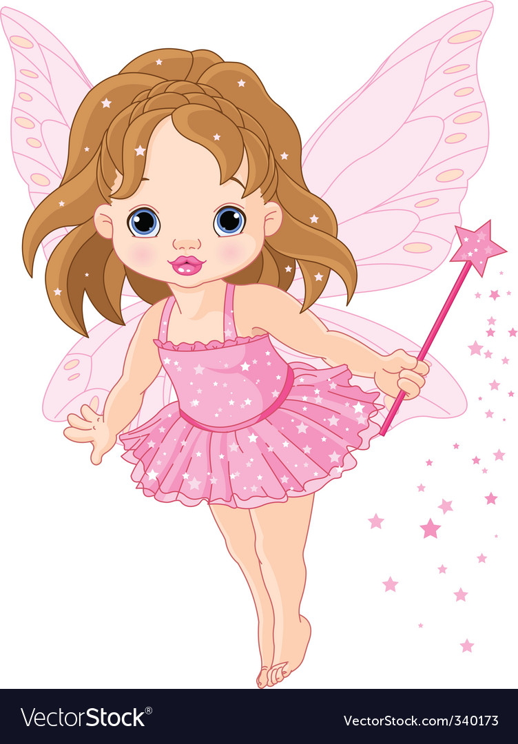Cute baby fairy vector | Price: 3 Credit (USD $3)