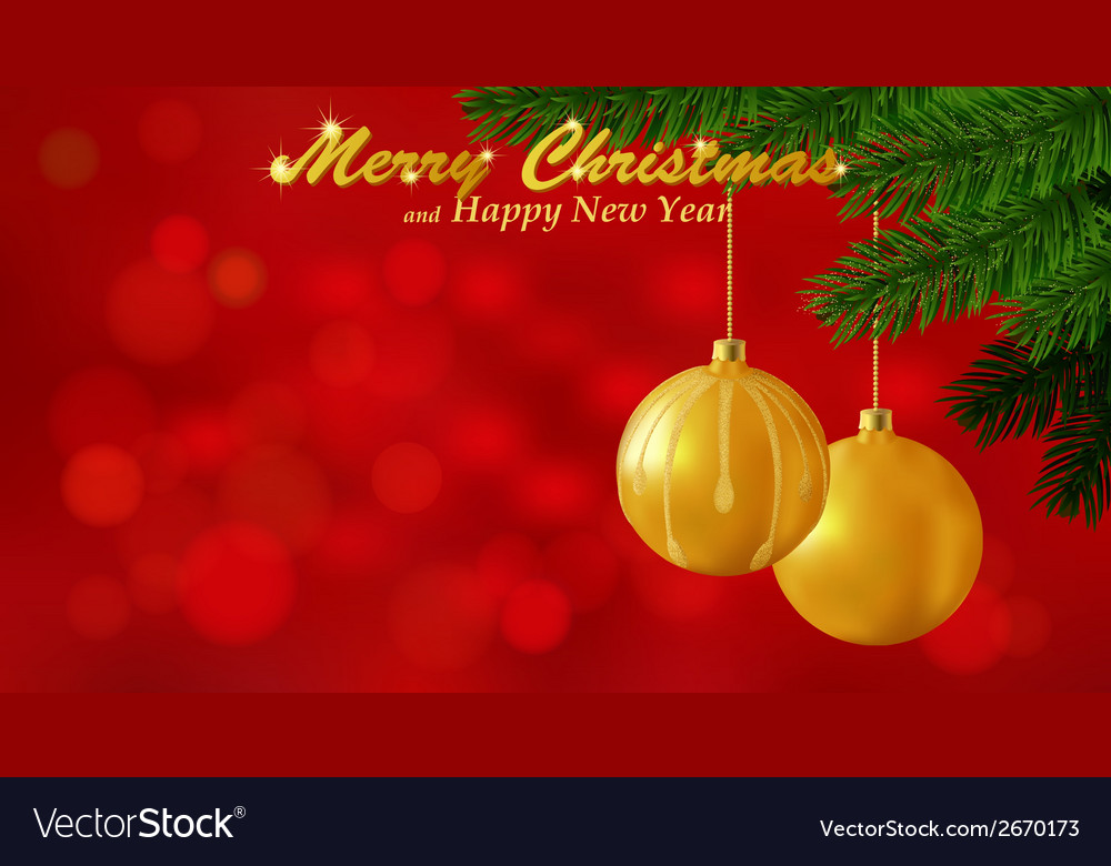 Merry christmas red background vector   Price: 1 Credit (USD $1)