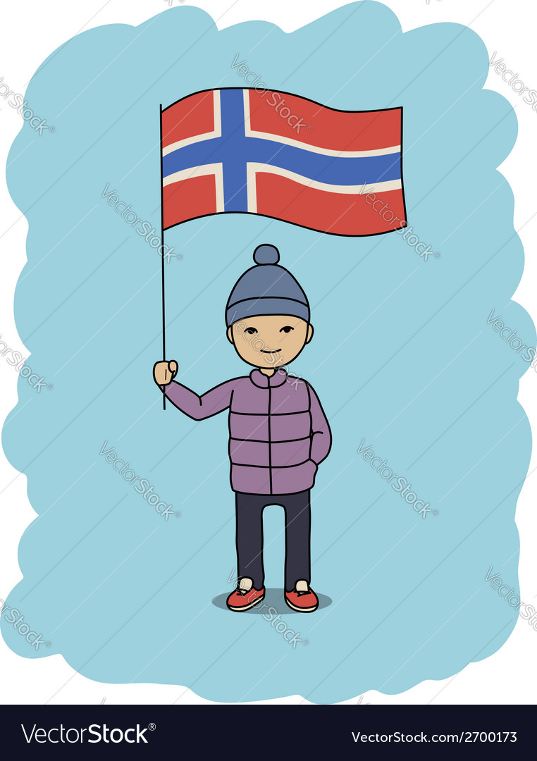 Norway flag vector | Price: 1 Credit (USD $1)