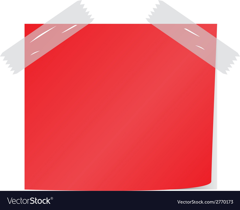Red post it vector | Price: 1 Credit (USD $1)