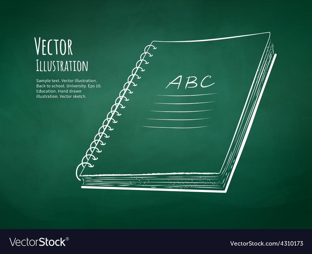 School notebook vector | Price: 1 Credit (USD $1)