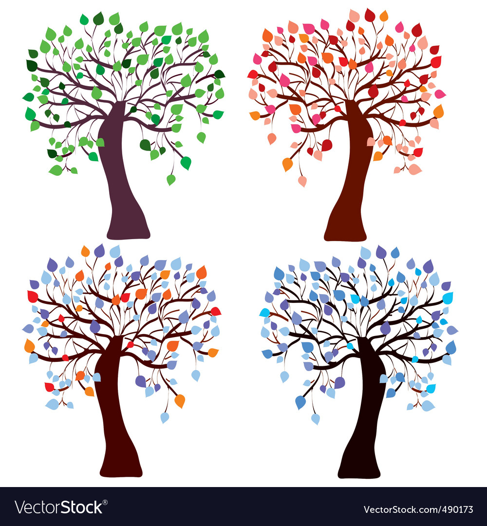 Trees season vector | Price: 1 Credit (USD $1)
